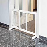 Trixie 39455 Hunde-Absperrgitter, Holz, 65–108 × 61 cm, weiß