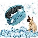 EKKONG Hunde halstücher Kühlend,Kühlhalsband für Hunde, Atmungsaktiv Wärmeableitung Bandana Hund, hundehalsband mit Tuch Kühlend,Geeignet für Kühlhunde im Sommer,55 X 16cm(L)