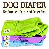 Wiederverwendbare Hundewindeln [3er Packung] Hygienische Hundewindeln, hoch absorbierend, Maschinenwaschbar & Umweltfreundlich (Solide, XS)