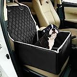 Toozey Hunde Autositz Hundesitz Auto für Kleine und Mittlere Hunde - Extra Stabiler Hundesitz für Rückbank und Beifahrersitz - Verstärkte Wände, Wasserabweisend, Faltbar - 45 x 45 x 25 cm, Schwarz