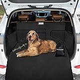 Focuspet Kofferraumschutz Hund, Hundedecke Auto mit Seitenschutz 185x105x45CM Kofferraumschutz Wasserdicht Kratzfest Autoschondecken für Hunde Kofferraumdecke Auto Schondecke