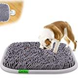 LAMTWEK (17' x 21' Schnüffelteppich Hunde Intelligenzspielzeug, Schnüffelteppich Hund Waschbar,Riechen rutschfest Hundespielzeug Schnüffelspielzeug,Intelligenz Hundespielzeug Mit 2 Stück Saugnapf