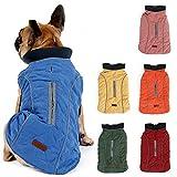 Hundemantel Winter Warme Jacke Weste, 7 Größen für Kleine Mittlere Große und Riesige Hunde, Winddicht Schneeanzug Hundekleidung Outfit Weste Haustiere Bekleidung (S, BLAU)