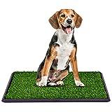 COSTWAY Hundeklo mit Rasen, Hundewelpen-Töpfchenauflage Hundetoilette Welpentoilette 3-Lagen-Trainingsunterlage Tierklo (76x51cm / ohne Schublade)