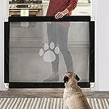 Namsan Hunde Türschutzgitter Einfach zu Installieren & Abschließbar Hundeschutzgitter Treppenschutzgitter Absperrgitter für Haustier, 80cm x 100cm