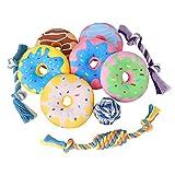 Toozey Welpenspielzeug Donuts - 10 Stück Hundespielzeug Unzerstörbar für Welpen & Kleine Hunde Spielsachen - Hundespielzeug Welpe Hundespielzeug Set Hundezubehör - Natürliche Baumwolle ungiftig