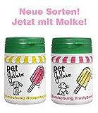 petGelato Eismischung - FrostyBerry & HappyApple - mit Molke - 2 x 44g - Hundeeis/Katzeneis/Pferdeeis