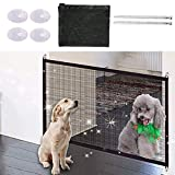 Nifogo Magic Gate - Hundenetz Haustier Barrier Sicherheit Netz, Portable Folding Safe, Pet Hund Isolierte Mesh Sicherheit Tor Schwarz (110 * 72cm)
