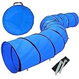 Yaheetech Hunde Agility Set Tunnel Hundespielzeug Hundetunnel Spieltunnel ØxL: 60 x 546cm mit Heringe