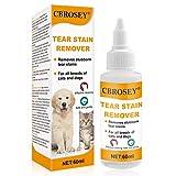 CBROSEY Tränenfleckentferner,Augentropfen für Hunde,Hundeaugenreiniger,Tränenfleckentferner Hund,Bindehautentzündung Hund,Augenpflege Für Haustiere, Sanfte Schmierformel Für Trockene Augen