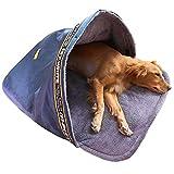 Hanson Mastery®Hundeschlafsack Winter Katzenschlafsack Warme Haustier-Schlafsack Haustierbett Waschbar Wetterfester Tragbar Hundehöhle