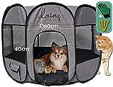 dainz® Innovativer Welpenauslauf/Welpenlaufstall für Hunde, Katzen & Kleintiere | Katzenlaufstall/Wurfbox für Katzen | Mobiler & sehr Leichter Hundelaufstall als Ruheort/Spielort +Zubehör
