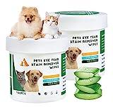 300 Stück Augen-Reinigungspads für Hunde und Katzen, Effektive Reinigung, Kann Schmutz Verhindern, Sanfte Augenreinigung