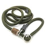 Romney's Moxonleine Melrose mit Zugbegrenzung/Zugstopp | Retrieverleine - Halsband und Leine in einem | Schöne Farben | 8mm x 130 cm (Oliv)