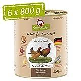 GranataPet Liebling's Mahlzeit Nassfutter Fasan & Geflügel, 6er Pack (6 x 800 g)