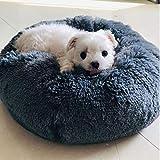 Petfekt - Gemütliches Haustierbett, reduziert Angst und Stress: Das natürliche Design des Betts sorgt für sofortige Entspannung und Komfort. (XL (80cm), Anthrazit)