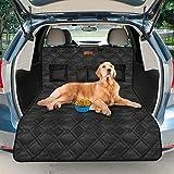 Looxmeer Universal Kofferraumschutz für Hunde, Kofferraumdecke Kofferraumschutzmatte Hundedecke mit Ladekantenschutz und Seitenschutz, Wasserdicht & rutschfest, Schwarz