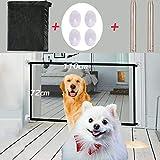 Nifogo Magic Gate Schutzgitter Hund - Hundenetz Treppenschutzgitter Faltbar Kunststoff Hund Safe Guard Trennwand Installieren überall für Hunde & Katzen (110x72cm)