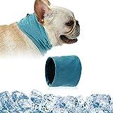 Kühlhalsband für Hunde, Hundehalsband Kühlend, Kühlende Halstuch Hund, Hunde Bandana Kühlend, Kühlendes Hundehalsband, Kopftücher Kühlend Hund, Sommer Pet Instant Cooling Schal (M)