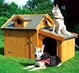 PROMADINO Hundehütte MAX mit Anbau 176x118x112cm isoliert imprägniert 352/52