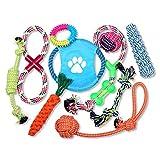 Schramm® 10er Set Hunde Spielzeug aus Seil Kauspielzeug Dog Hund Kauspielzeug Baumwollknoten Hundespielzeug 10 Teile Kauspielzeug