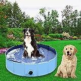 Forever Speed Hundepool,Doggy Pool,Katzenpool,Faltbares Pool,Kinderbadewann,Umweltfreundliche PVC,rutschfest,Gut Abgedichtet-Haustiere,Geschenke der Kinder (3Größe) (120x30cm, Blau)