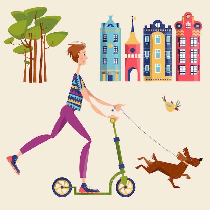 Dogscooter im Einsatz