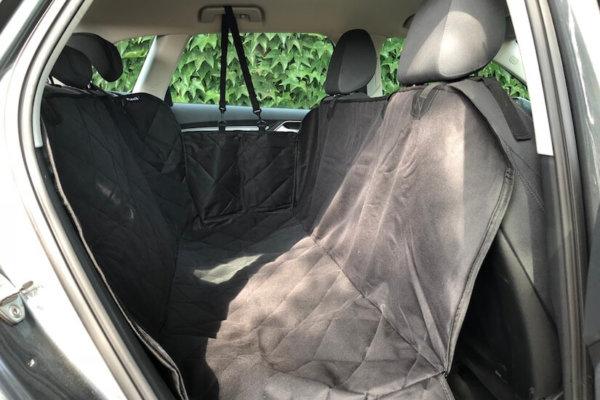 Floxik Autoschondecke für Hunde mit Seitenschutz für den Rücksitz_0608