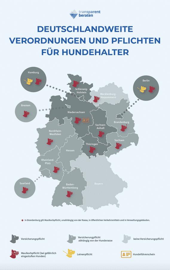 Verordnungen und Pflichten von Hundehaltern in Deutschland